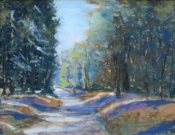 November, Road from Mirror Lake, Yosemite pastel